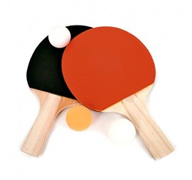 2 RAQUETTES PING PONG + 3 BALLES