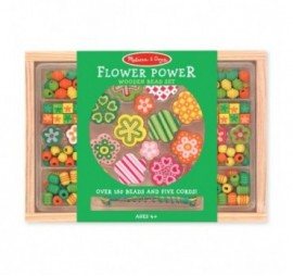 COLLIER EN BOIS FLOWER POWER BEAD SET