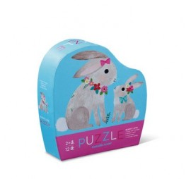 MINI PUZZLE BUNNY LOVE (12 PIECES)