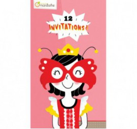 CARTES PRINCESSES INVITATION