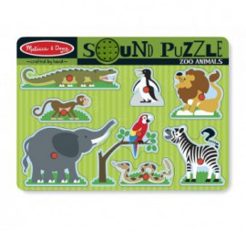 PUZZLE SONORE ANIMAUX ZOO