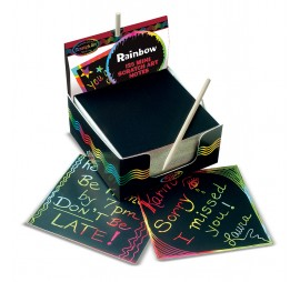 RAINBOW MINI SCRATCH ART NOTE CUBES