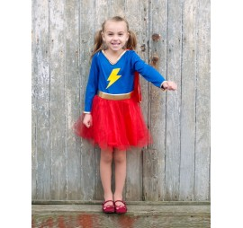 SUPERGIRL TULLE ROUGE